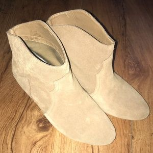 Leather boots sole society tan booties 7.5